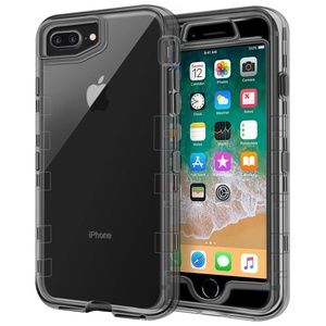 iPhone 8/7Plus Case Heavy Duty Defender ClearBlack